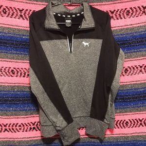PINK Athletic stretch quarter zip long sleeve